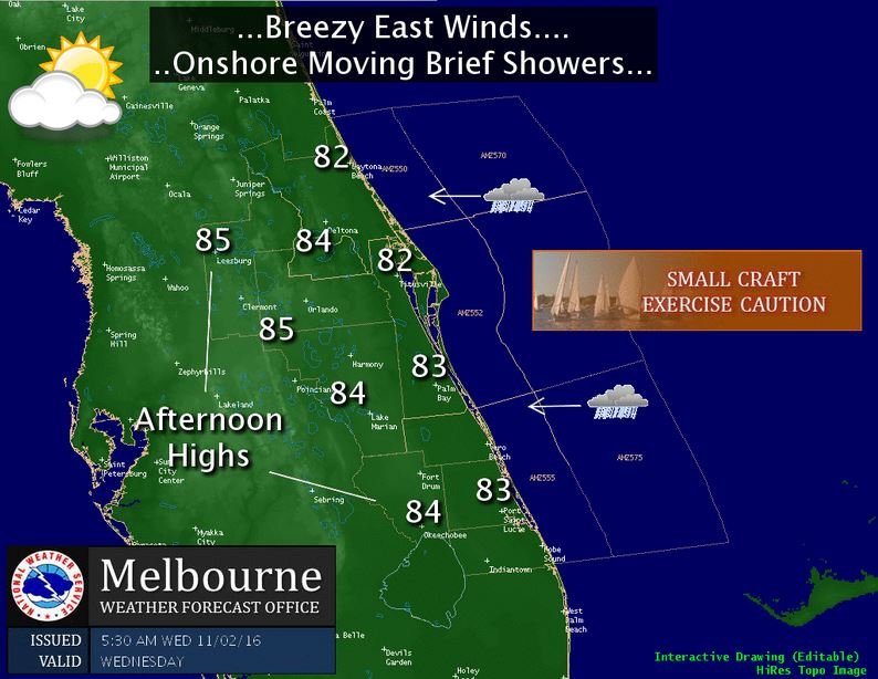 Early isolated showers expected in Volusia and Flagler counties