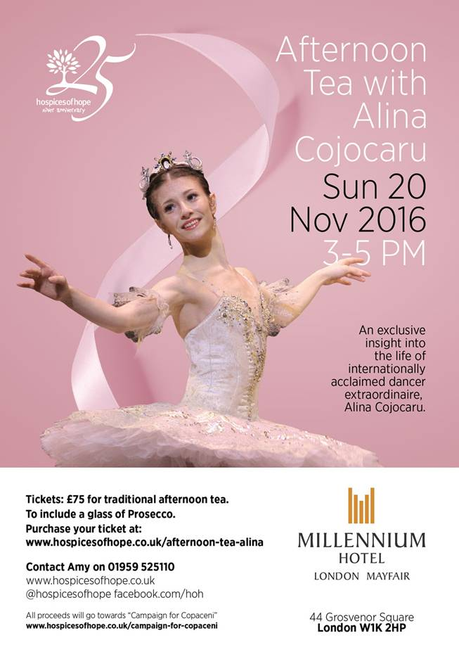 Very special afternoon tea with @DancingAlina (Alina Cojocaru) later this month. Tickets available.... #ballet https://t.co/iVfMkdH7l6