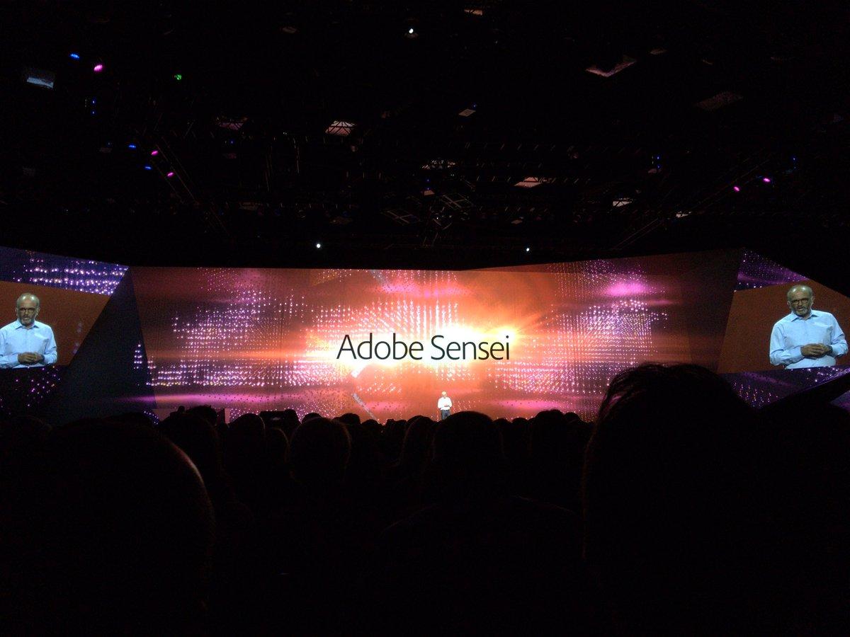 AdobeのAIを利用した新サービスの名前が「Adobe  Sensei」なので、日本人的にはクスクスしてしまうw https://t.co/RJjEhBCSQk #MAX野郎 https://t.co/EMbWawYhUx