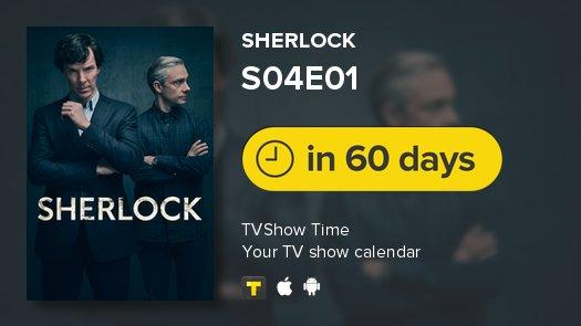 Sherlock is back in 60 days! #Sherlock #tvshowtime https://t.co/g5sNHDMSZ5
