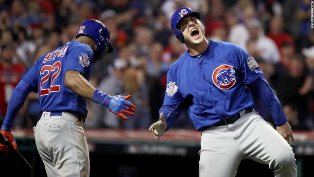 Chicago Cubs win Major League Baseball's World Series taking Game 7 from Cleveland Indians