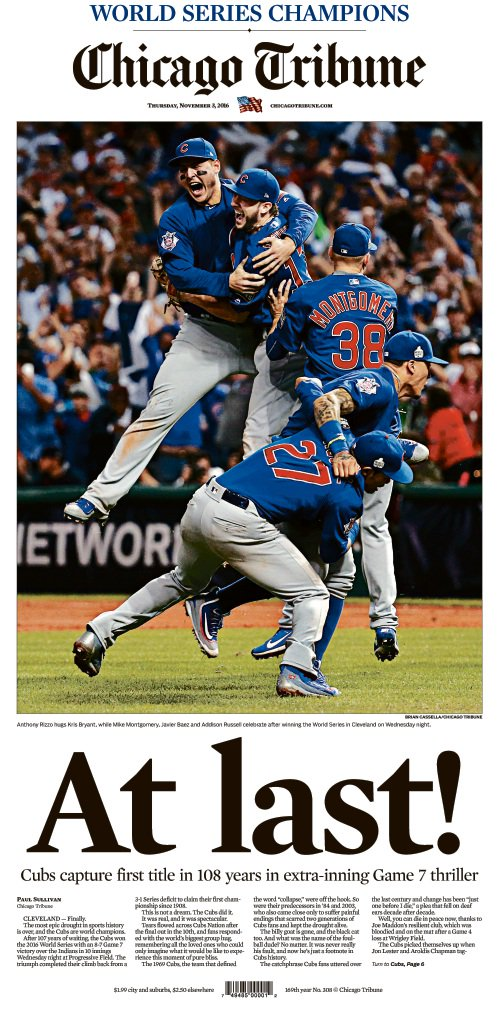Make sure to pick up a copy tomorrow! #CubsWin https://t.co/Ji5XDsPham