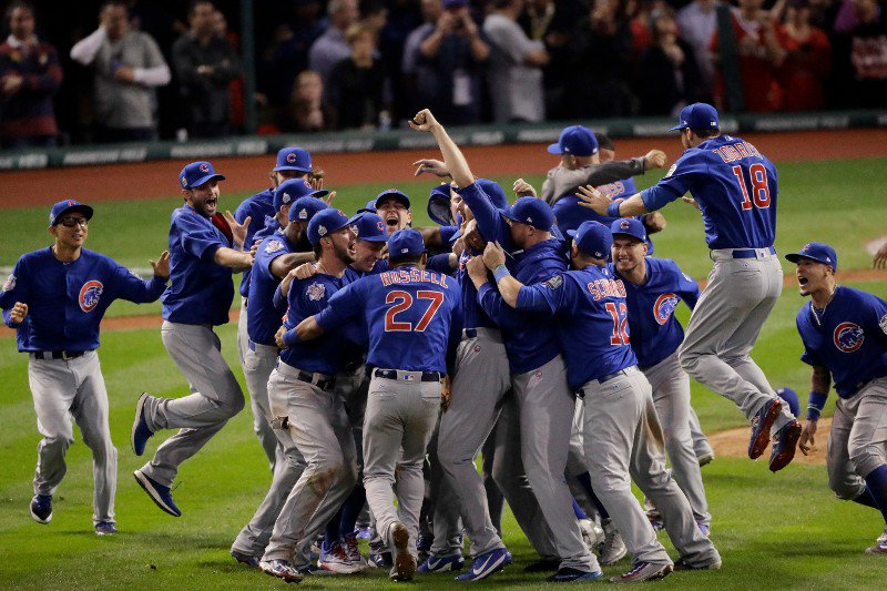 Congratulations to the Chicago Cubs for winning the World Series!