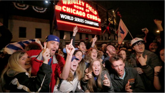Emotional Chicago @Cubs fans are basking in the glory of the team's World Series win