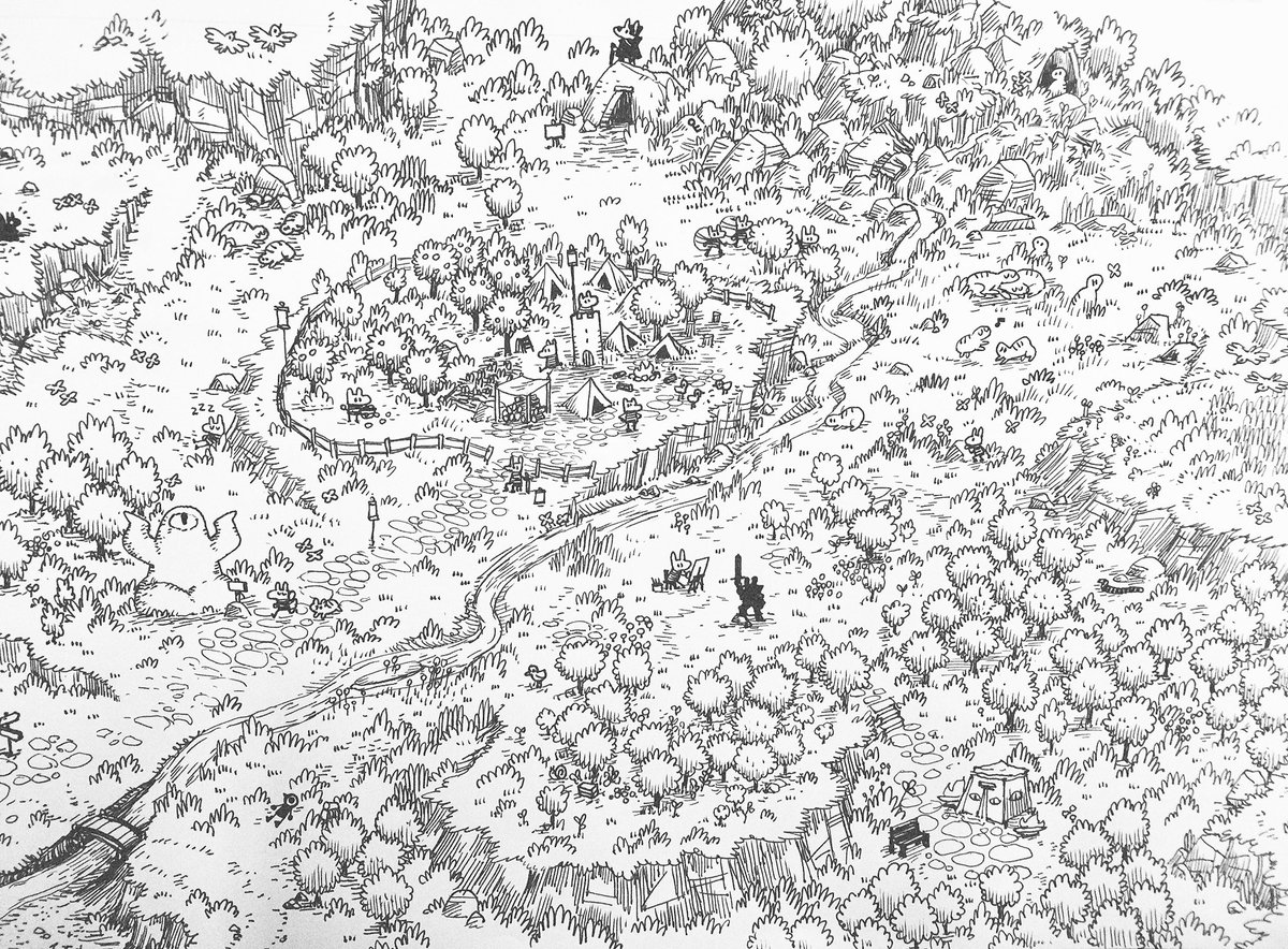 A tiny village, fruit trees, some tranquil animals, a couple caves, the seer's tent, a few birds, a snake, a key https://t.co/FrUWhPWqgS