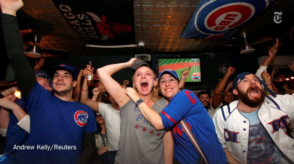 The real MVP of the World Series? That guy sitting next to @sarahlyall at the bar.