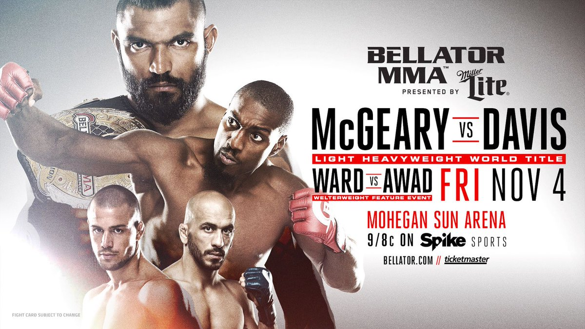 Bellator 163 predictions, preview for 'McGeary vs Davis' on Sp... https://t.co/Kqmkj2SVLN via @mmamania #MMA #UFC https://t.co/exyCZn5arz