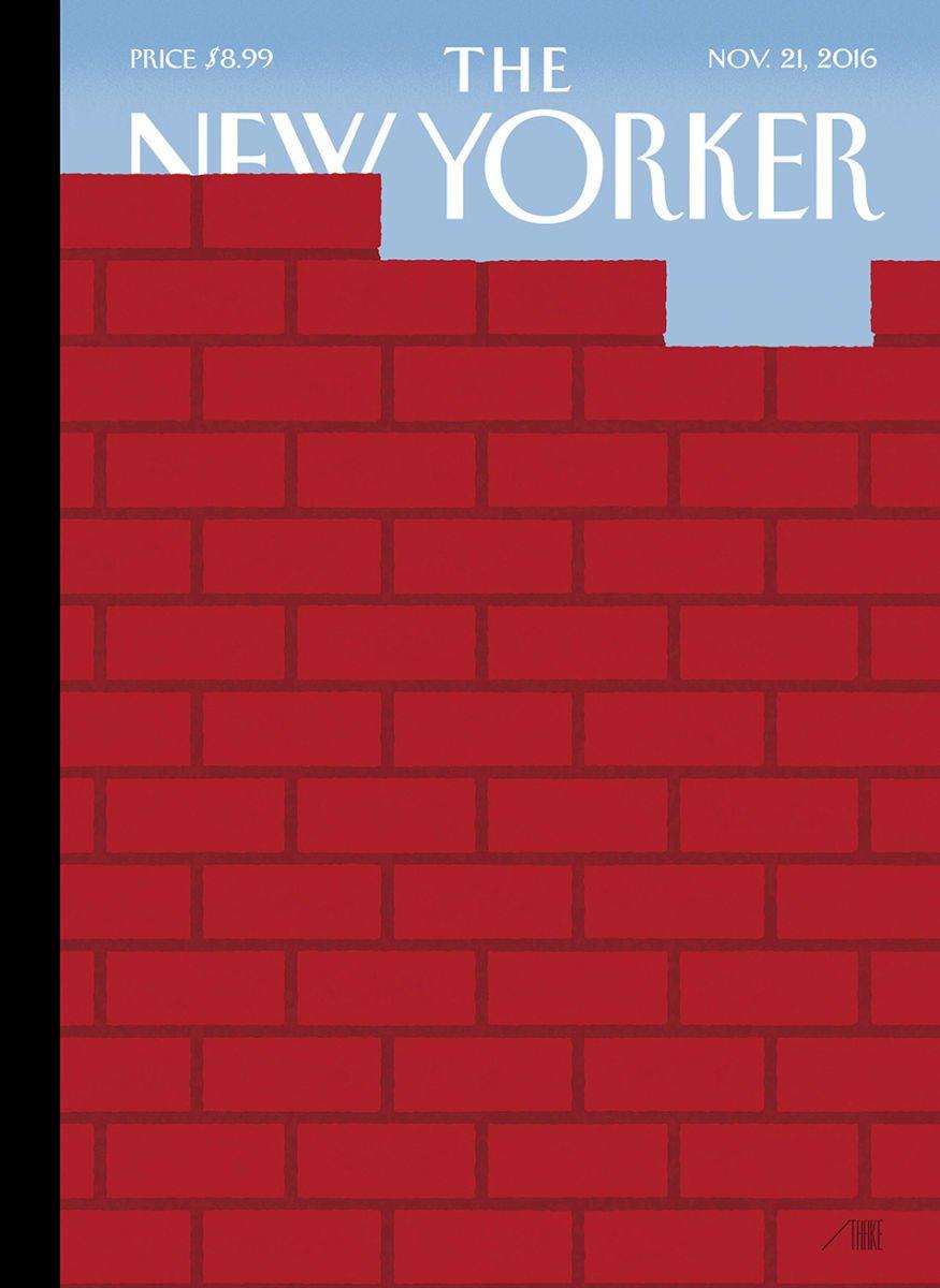 La couverture (géniale mais effrayante) du premier numéro du 'New Yorker' sous Trump.