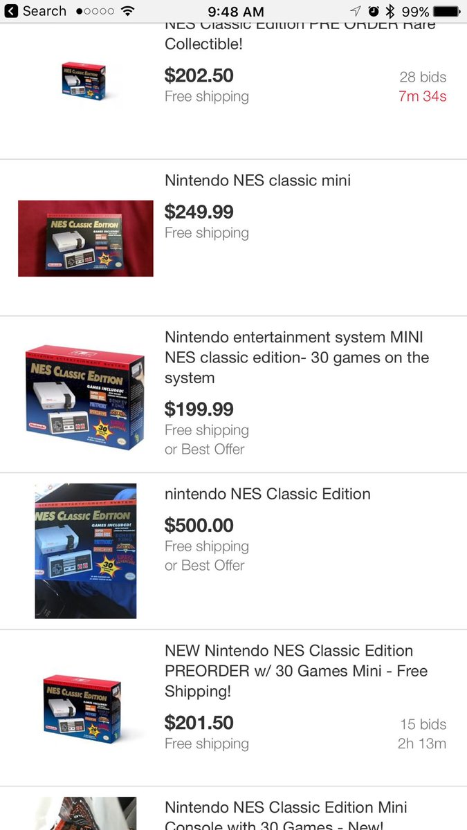 "Gosh I wonder how the ""new Nintendo thing"" is doing on eBay and   ......  Get the hell out of here https://t.co/PiBKbAHo9b"