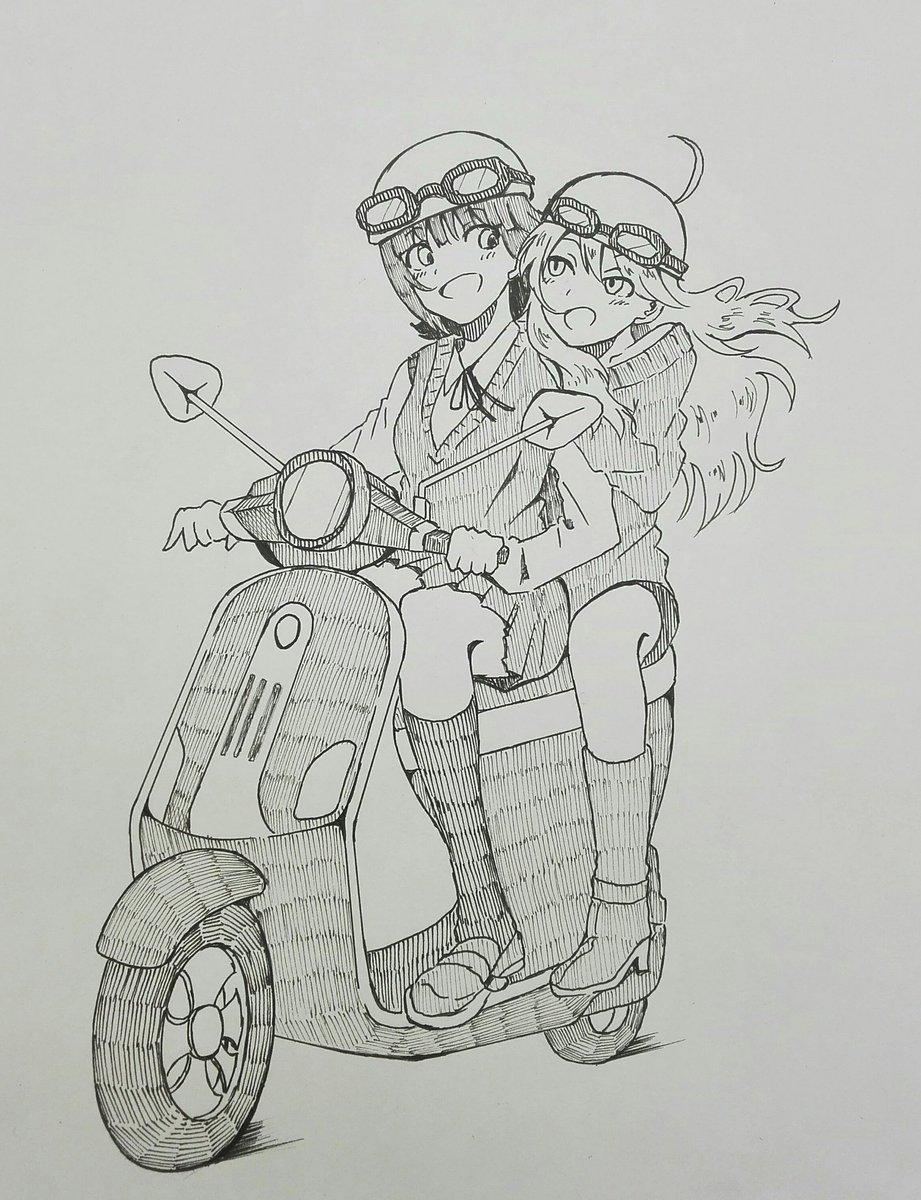 春香と美希と、時々バイク https://t.co/6TSPJgAsxL
