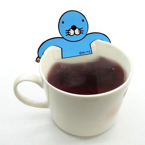 ぼのぼの ティーバッグ(お茶会)気持ちよさそうにお茶に浸かっている、ぼのぼのですヾ(・∀・。)ノ.