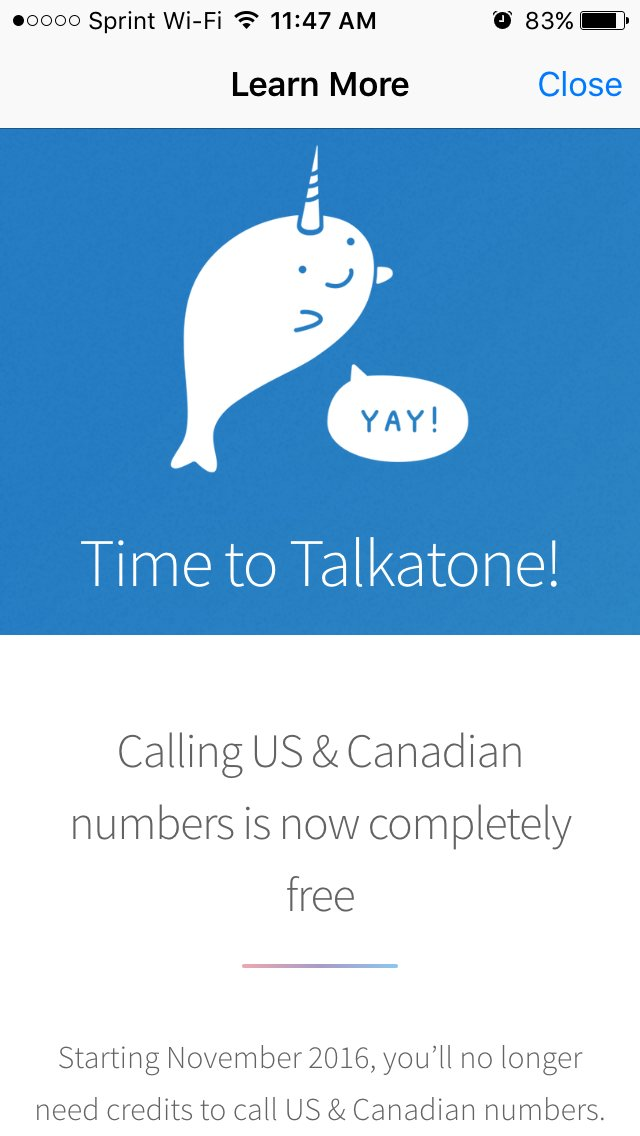 Calling US & Canadian numbers is now completely free. https://t.co/nZ7UuBpnvB https://t.co/gnvCIBGBK7