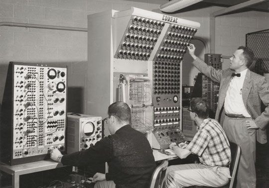The first Cornell Electronic Analog Computer (COREAC), circa 1960s