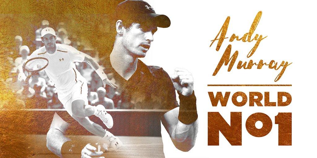Andy #Murray is World No.1 #HistoryMaker https://t.co/bi8LqjjdrY