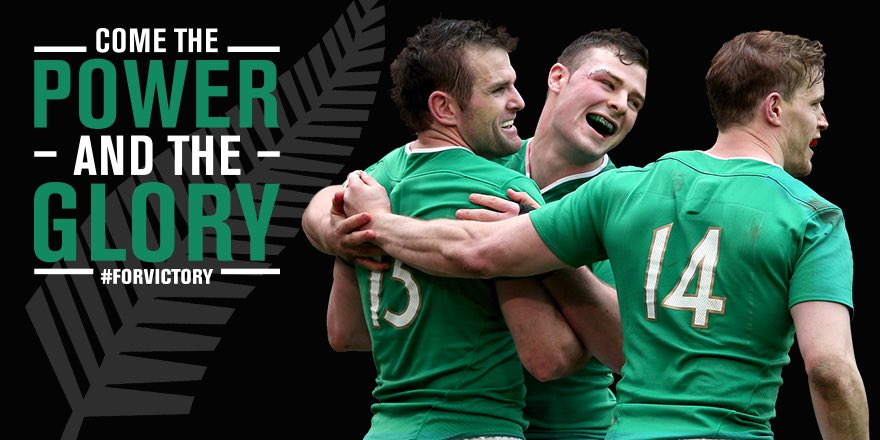 With hearts of steel and heads unbowing, we vowed never to be broken. Today we make history. #ForVictory #IREvNZL https://t.co/abocd4f6t9