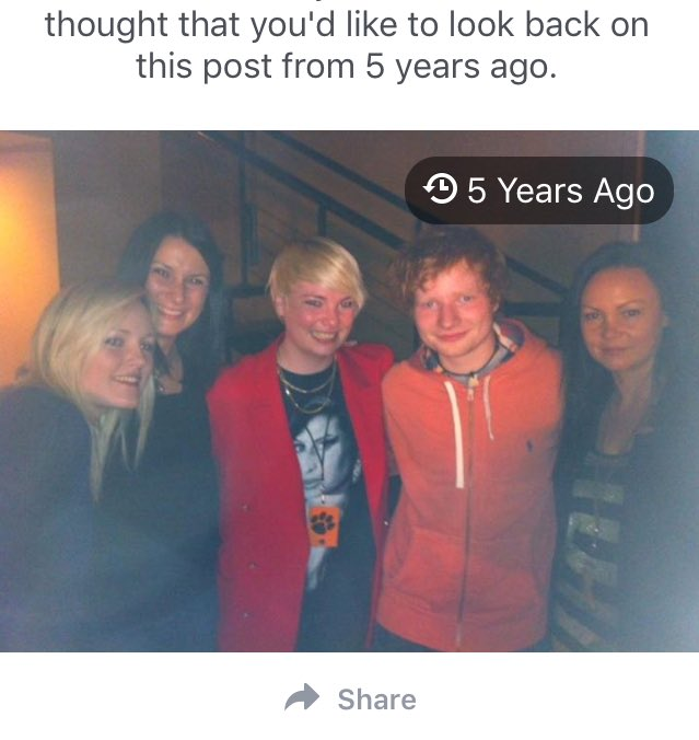 This day, 5 yrs ago. Supporting Ed Sheeran. And him meeting my family for the 1st time. ❤️ #edsheeran #edsheerantour https://t.co/UfNfONWSDL