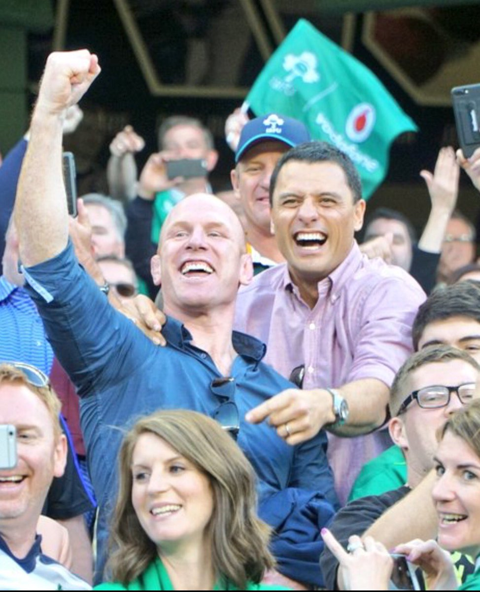 The two legends in the stand #IREvNZL https://t.co/TuL567pT9p
