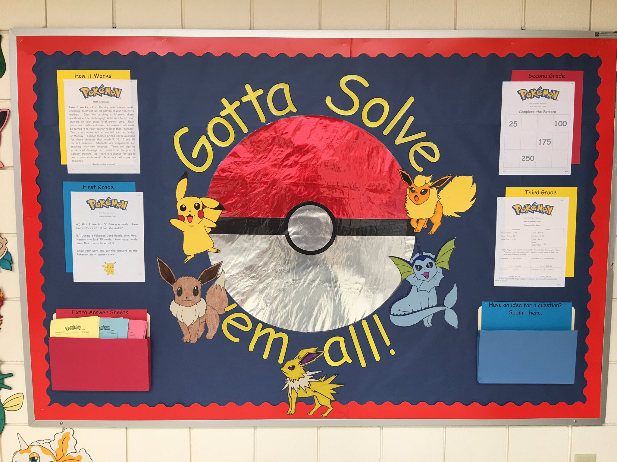 Stoked to start our @Pokemon math challenge Monday! Making math cool again! #VoiceAndChoice #edchat #Mathchat #elemchat #unionrxi https://t.co/gzN059hyX7