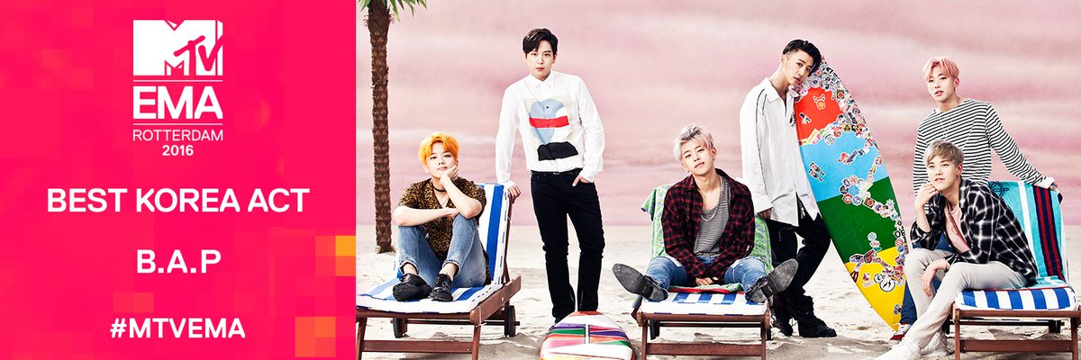 Meet your 2016 @mtvema Best Korea Act: B.A.P