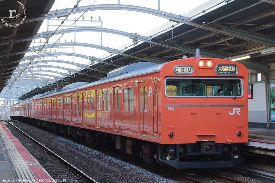 test ツイッターメディア - JR西日本103系 LA4編成  2016-10 大阪環状線(鶴橋駅) https://t.co/9QyTBMAPx7
