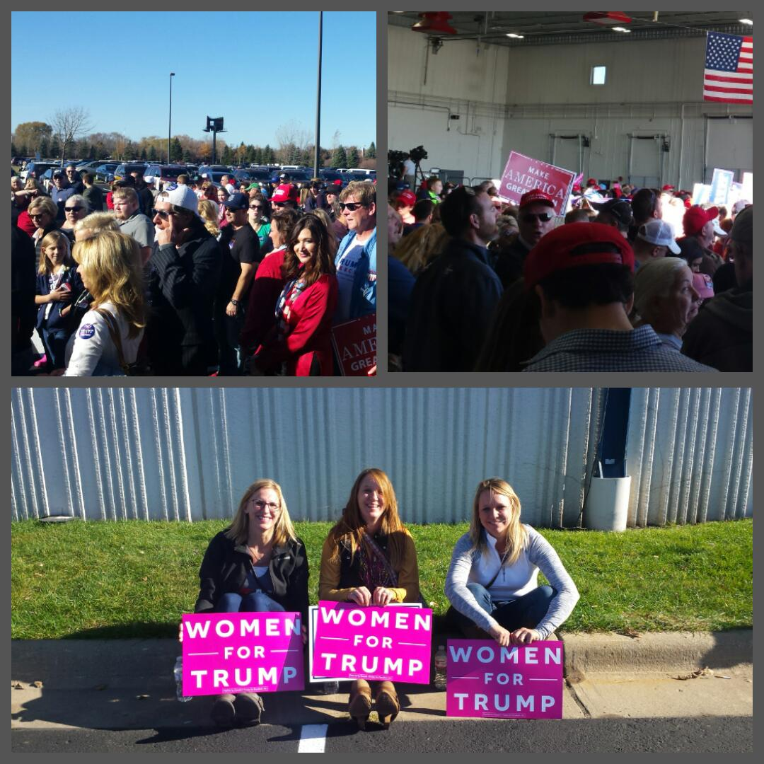 Minnesotans are showing up for Trump! We're ready to #MakeAmericaGreatAgain!   #TrumpPence16 #mngop https://t.co/56eNuMsIgO