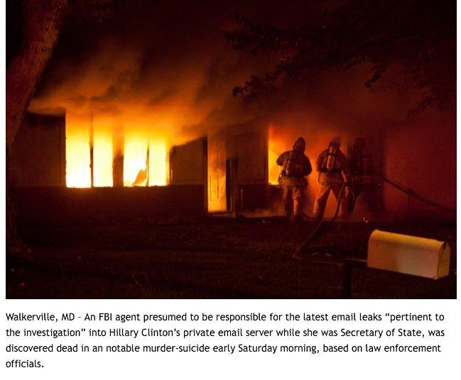 @RealJamesWoods #NextontheList #FBI Agent #MichaelBrown. Found shot in an alleged murder/suicide. House burned down. https://t.co/0zAmM33ErK