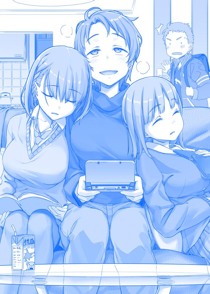 月曜日のたわわ その90 「あれ、姉ちゃん部活は?」「…春高より大事なものがここにある」↑アニメ5話配信中!↑