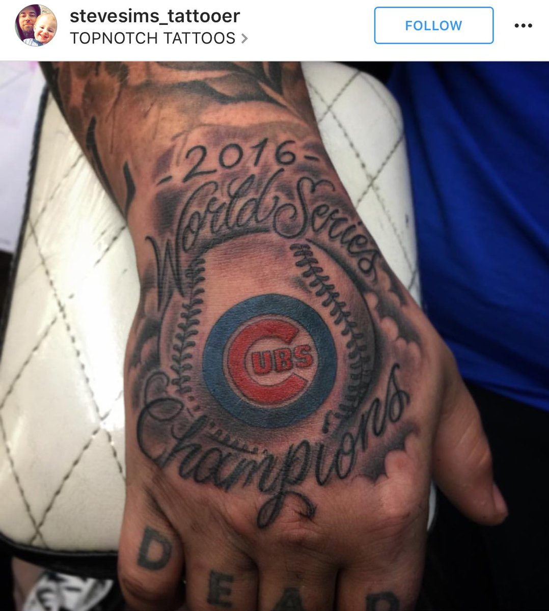 Tattoos that chicago cubs fans got this week for Japanese tattoo chicago