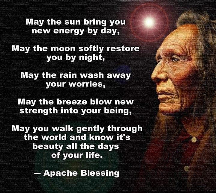 """""""... May you walk gently thru the world & know it's beauty all the days of your life."""" - Apache Blessing https://t.co/bhhoFVHwdc"""