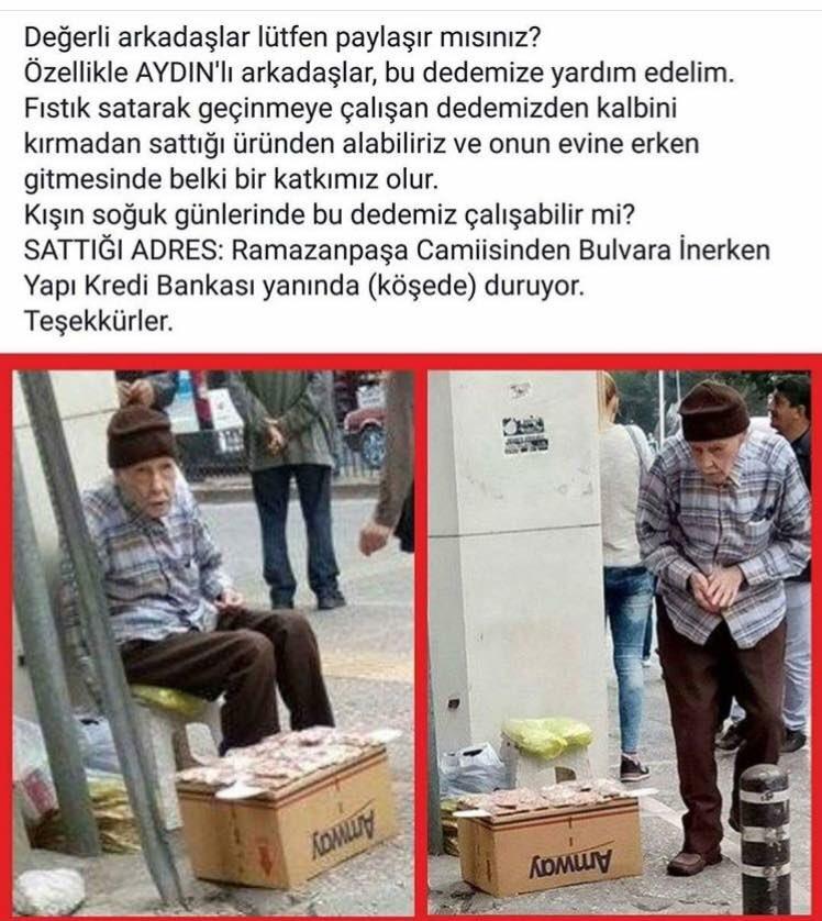 Aydın'da yaşayanlar keşke bu amcadan alışveriş yapsanız..? https://t.co/ALciDqEWc6
