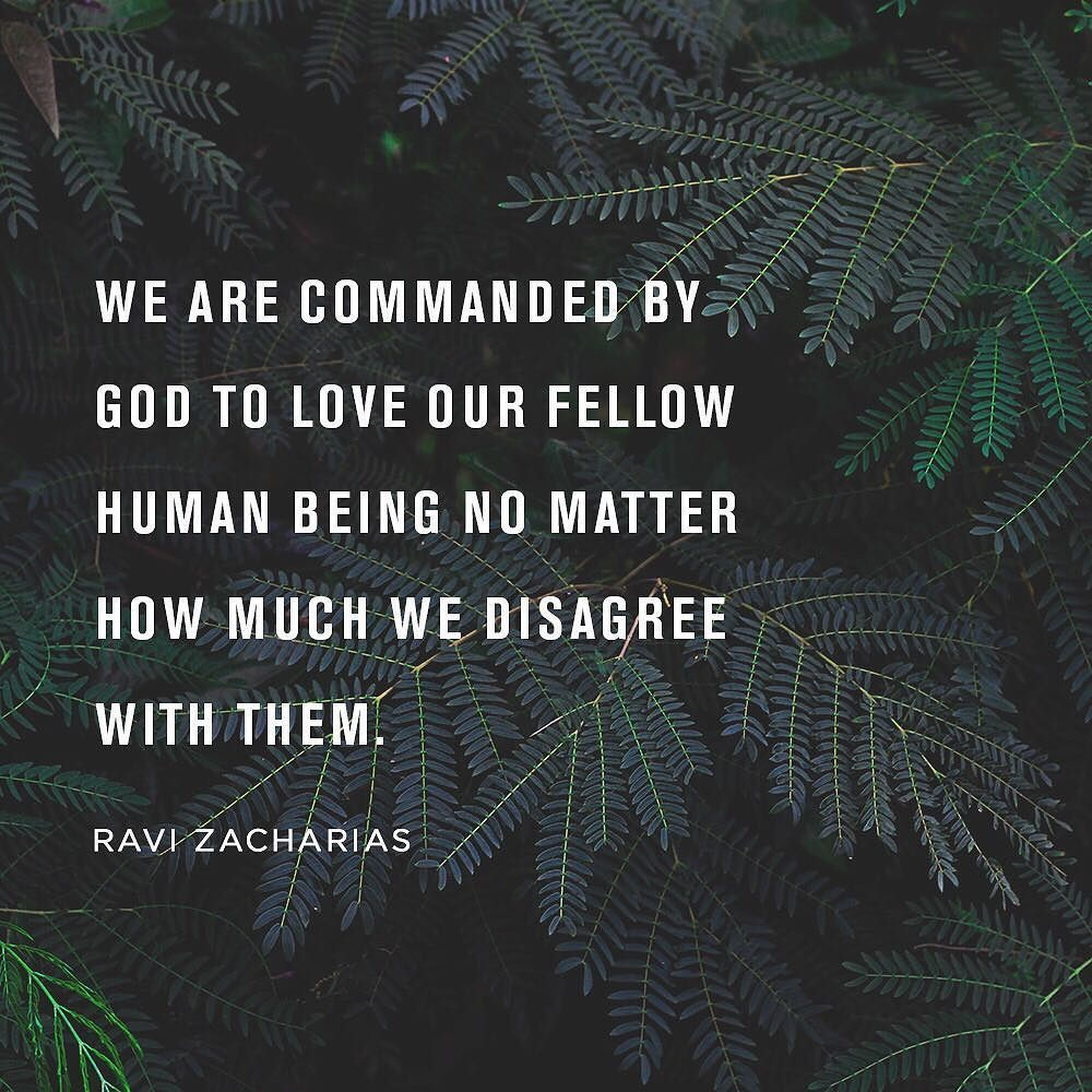 No matter how much we disagree with others, we are called by Christ to love them.  #loveothers https://t.co/DVvrELkv80