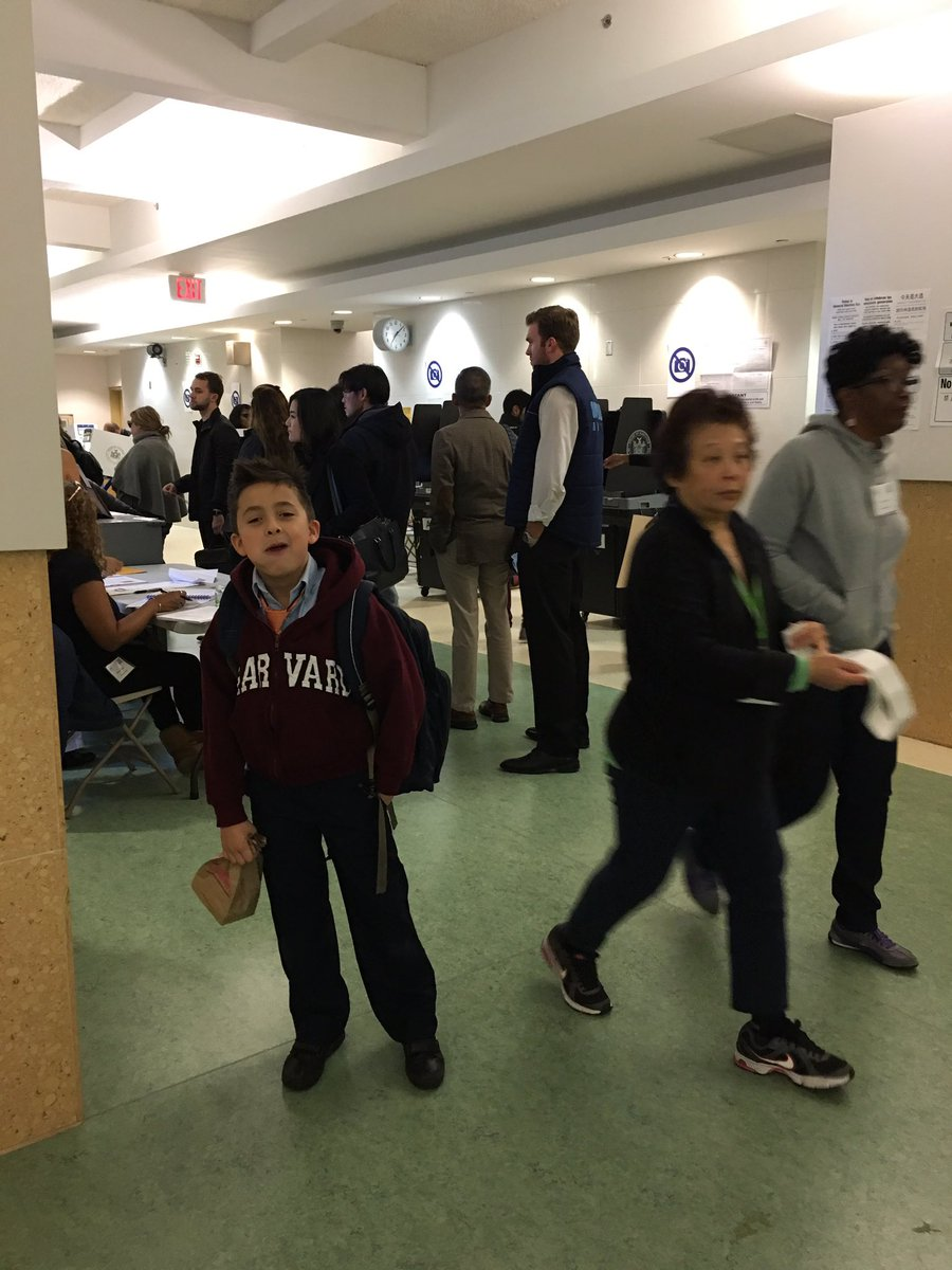 .@SuccessCharters Scholars Rock The Vote and still make it to school before 7:45am! #InsideSucess https://t.co/zlDsDFadCJ