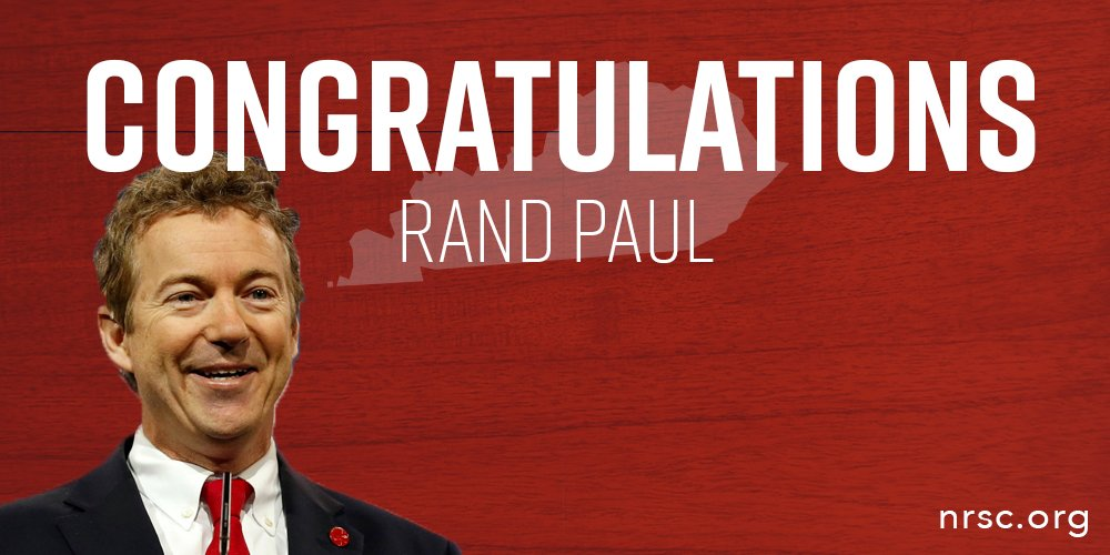 Retweet to say congratulations to @RandPaul for his #KYSen win! https://t.co/VIAudFLmmG