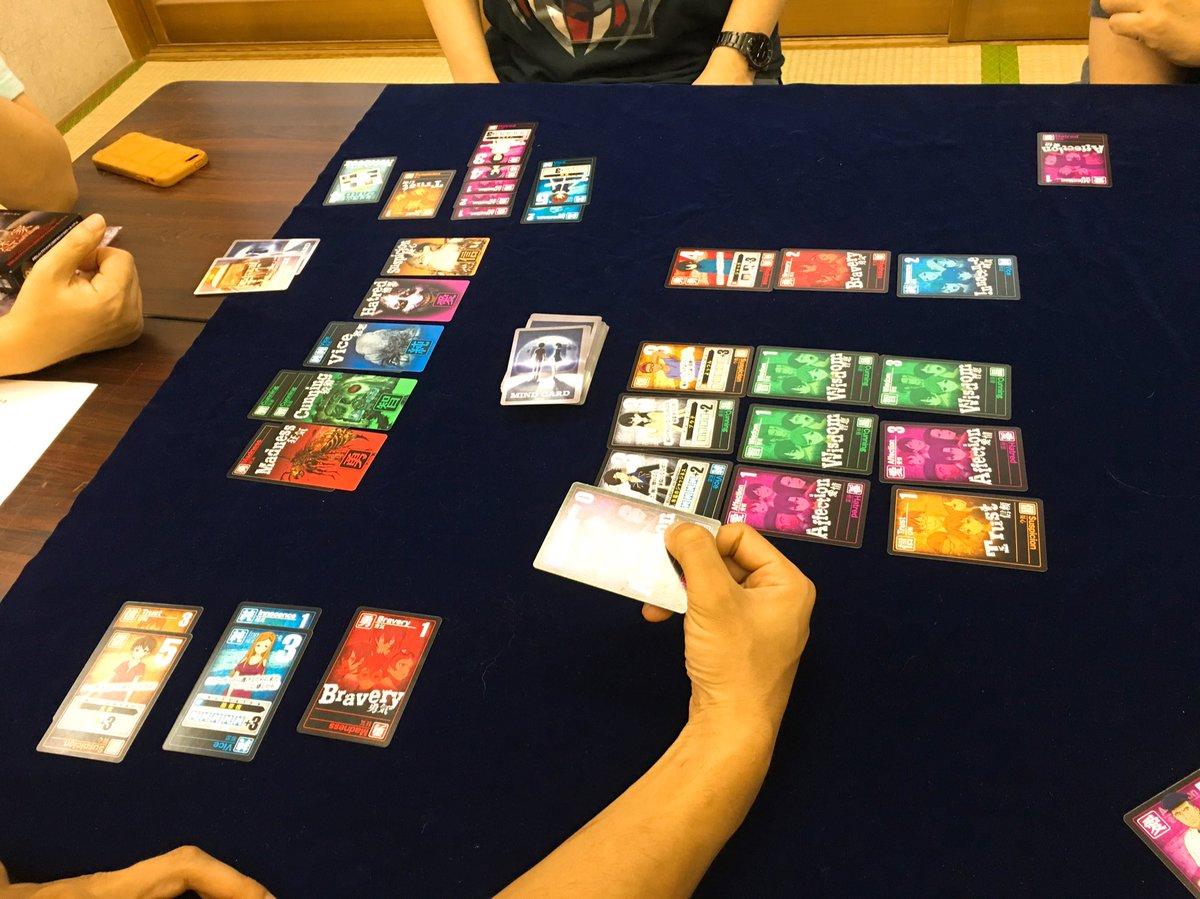 ハッピーゲームズさんの『迷家』もこのコロレットに似たシステムをうまく使ってて複数の色になると合計点が伸びない。トラウマが