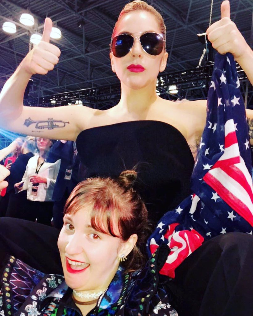 Lovin it up with the ladies.!!! GO HILLARY #vote if your polls are still open. @lenadunham https://t.co/ZMUKQZHXla
