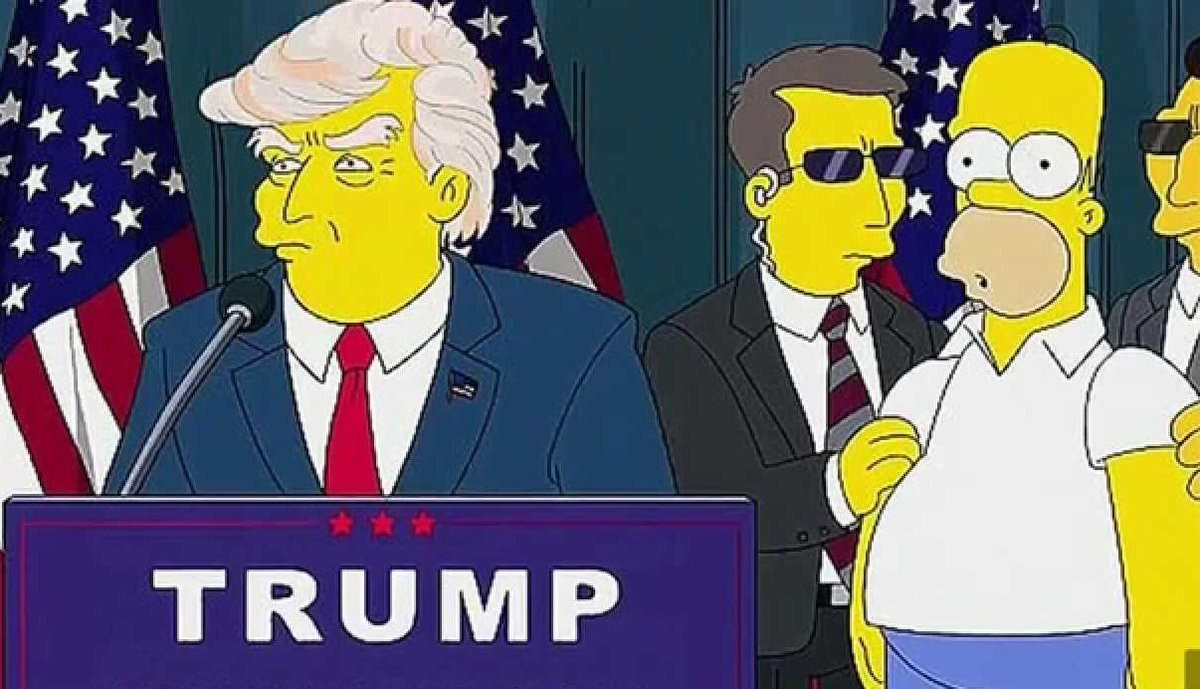 I will believe every single thing I see on The Simpsons from now on.   #ElectionNight https://t.co/EVh9oCq3bt