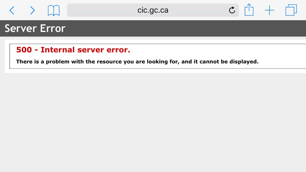Aaaand Canada's immigration site is out. https://t.co/4Hhzlcrru1