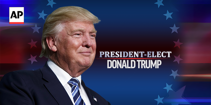 BREAKING:  Donald Trump is elected president of the United States.