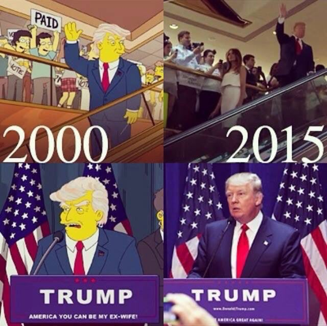 I completely blame it on The Simpsons for their accurate prophecy of events https://t.co/oFpTFTyea7