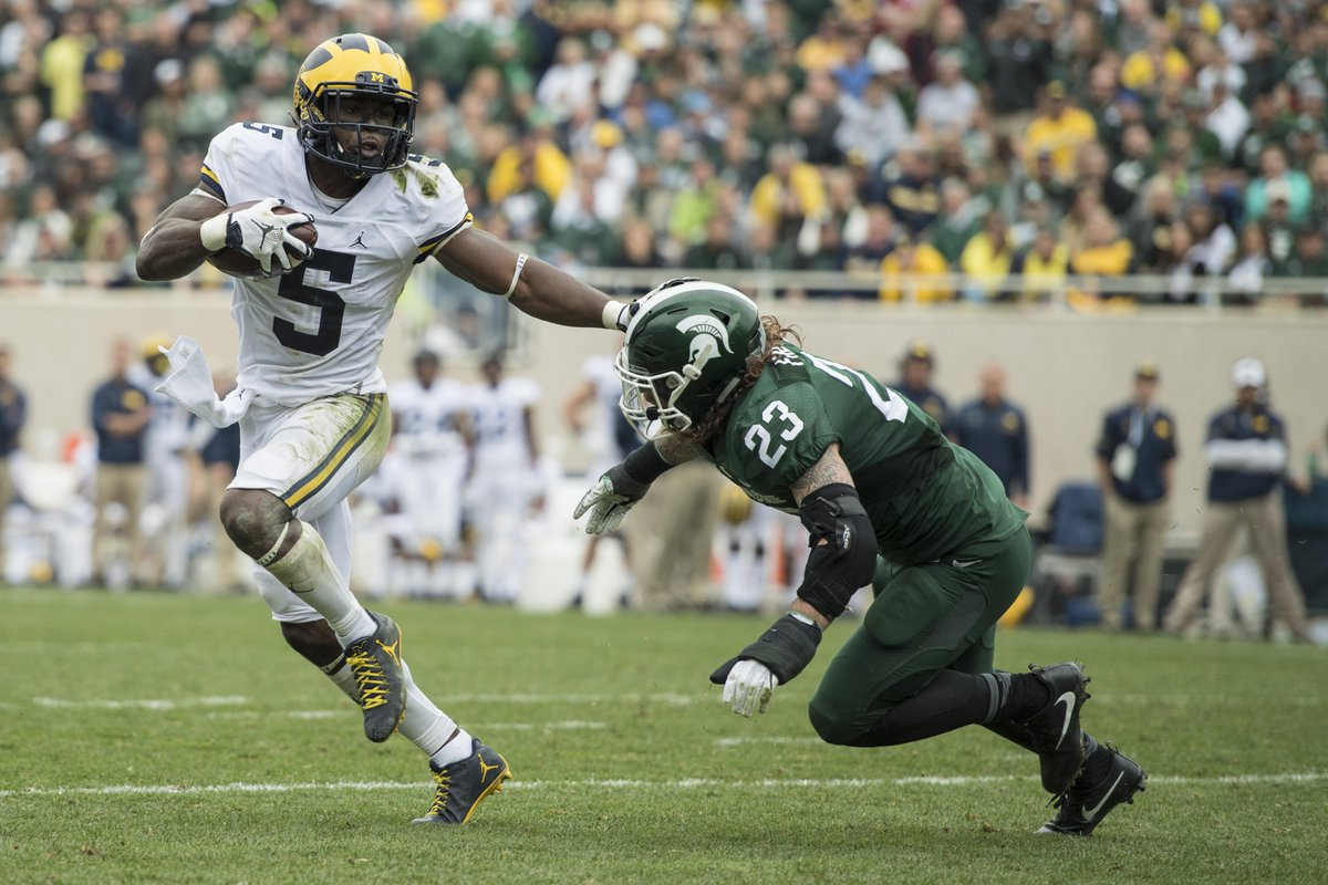 He's the most versatile player in college football.   He's @JabrillPeppers.   #GoBlue #HEI5MAN https://t.co/wDj9bFh67b