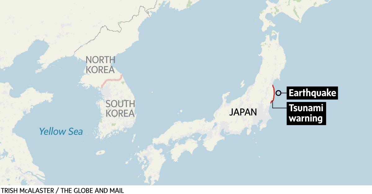 Update: Tsunami hits Fukushima, Japan after strong quake. Nuclear plant briefly