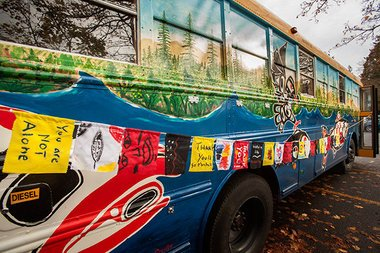 Portland bus to help shield against hypothermia at subfreezing Standing Rock (photos)
