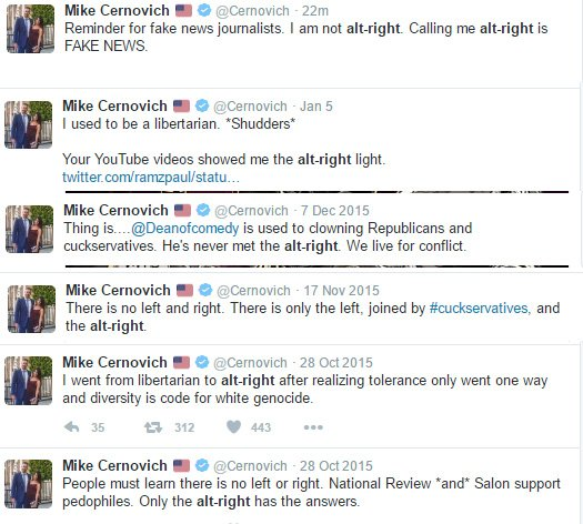 Probly gonna see a lot of Cernovich denying his neo-Nazi connections, so I'll leave this here. https://t.co/1EO1QcehNE