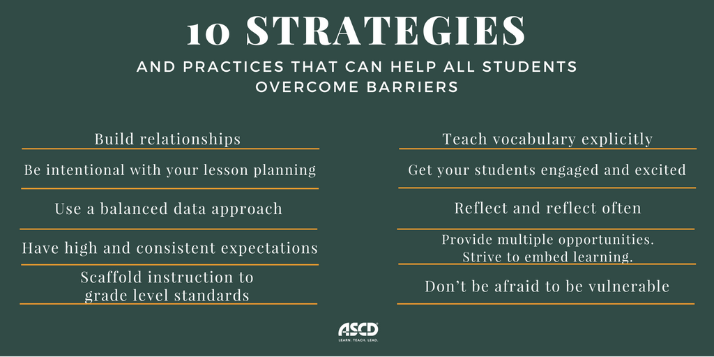 Here are our top ten strategies and practices that can help all students overcome barriers. https://t.co/BK3ZCT8zB2 https://t.co/iVyqOCmNQ2