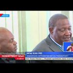 New Kenya airports authority managing director Johnny Andersen took office