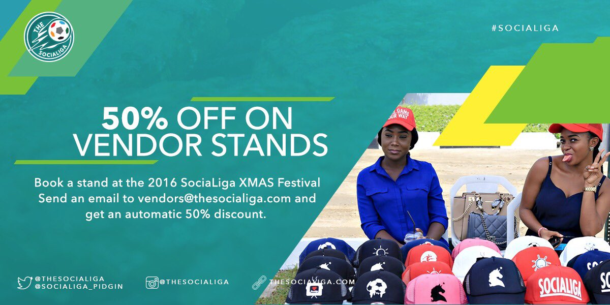 The #SociaLiga Xmas Festival is arguably the biggest SociaLiga event. So why shouldn't your business be displayed? https://t.co/WC2NU7YjAw