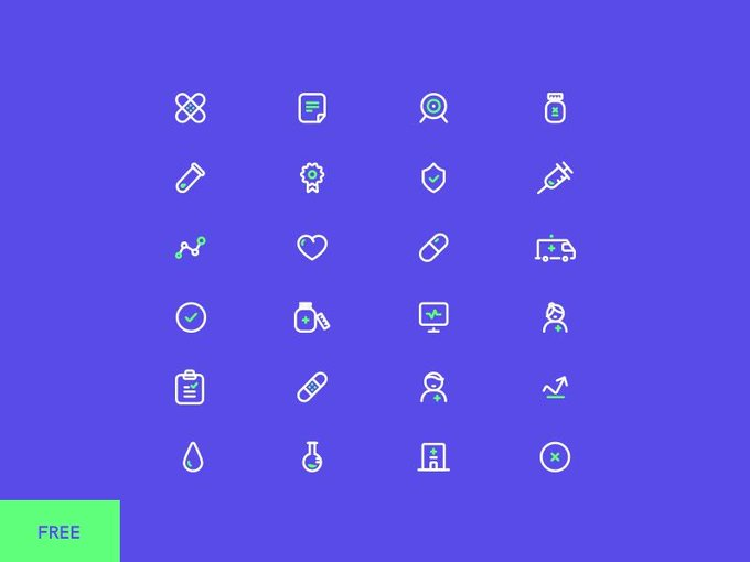 Icons set   Icon by polanquette freebie