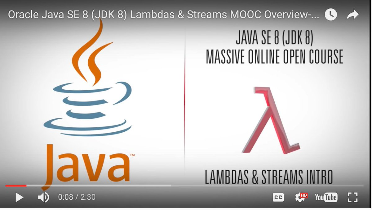 Free Course!  JDK 8 Lambdas and Streams.   Please share :)  https://t.co/WWa3QWxI9T https://t.co/V0tLlce91g