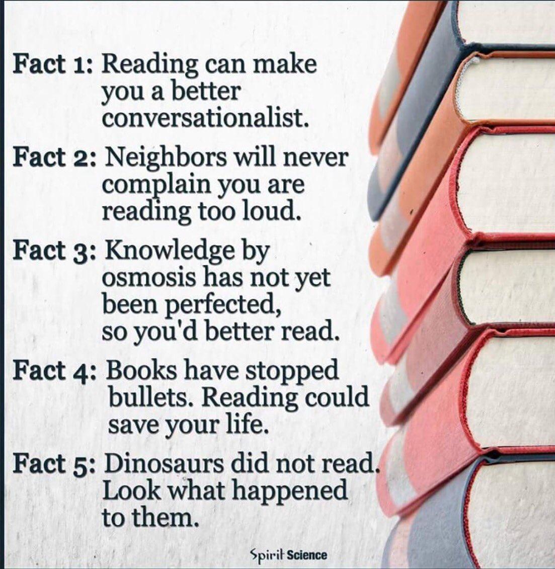 5 raons per no deixar mai de llegir. Poderoses. @CarmeFenoll @lauraborras https://t.co/mRsHjCycvv