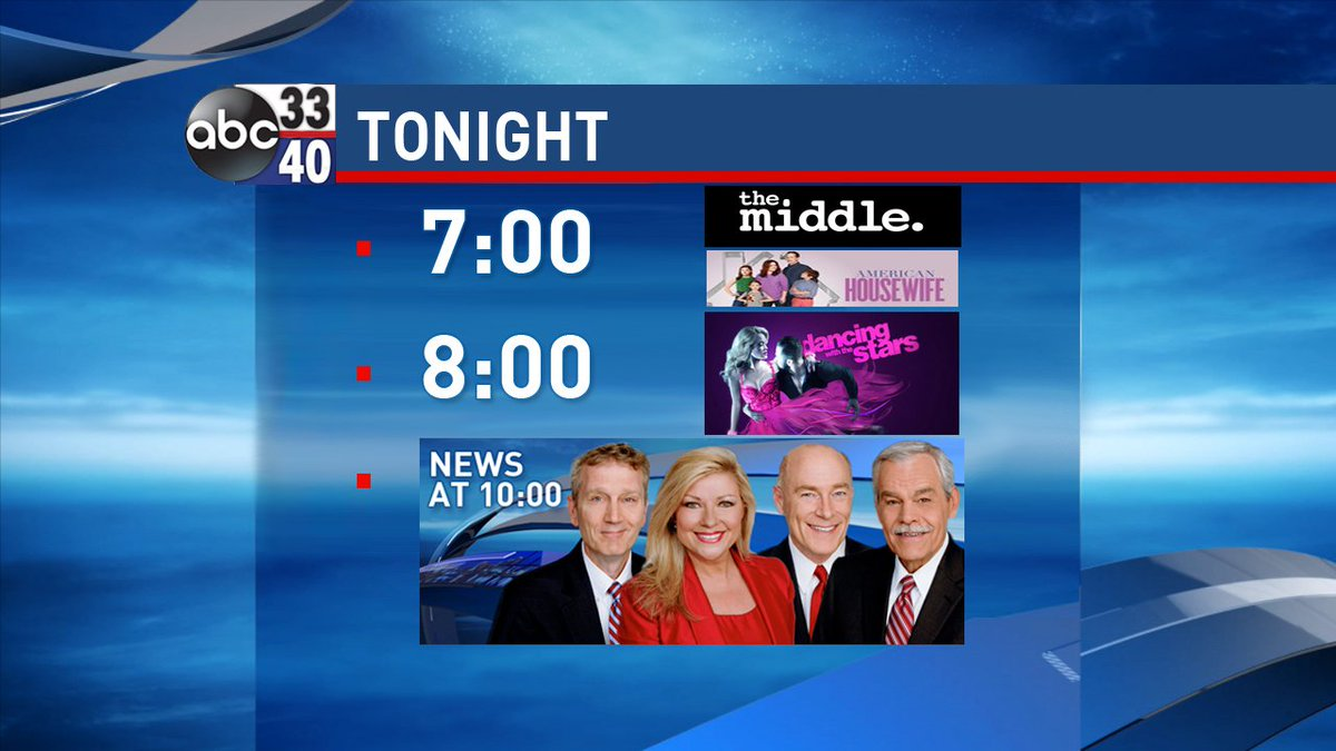 Great Lineup Tonight On Abc 33 40
